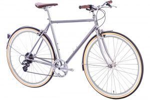 6KU Odyssey City Bike 8 Speed Brandford Silver-433