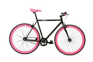 FabricBike Fixed Gear Fahrrad - Mattschwarsz / Rosa-0