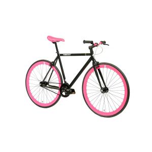 FabricBike Fixed Gear Bike - Matt Black / Pink-2863
