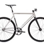 State Bicycle Co Fixie Fahrrad Black Label v2 - Raw Aluminum-0