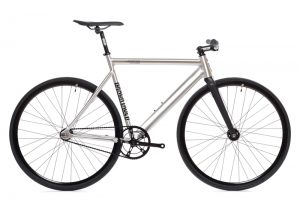 State Bicycle Co Fixie Fahrrad Black Label v2 - Raw Aluminum-0