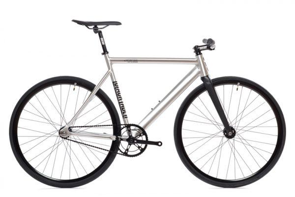 State Bicycle Co Fixie Fahrrad Black Label v2 – Raw Aluminum-0