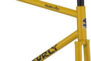 Surly Steamroller Track Frame Kit 700C Yellow-6803