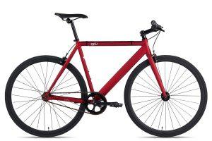 6KU Fixie Fahrrad Burgundy Rot-0