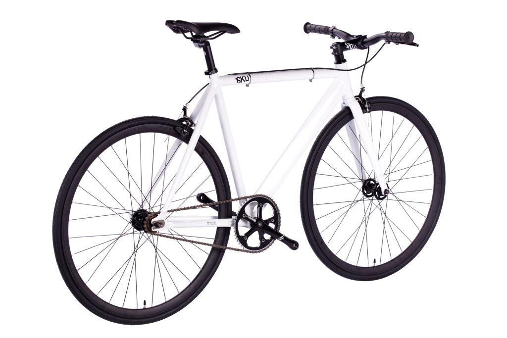 6KU Fixed Gear Track Bike White-643