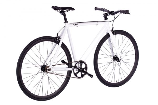 6KU Fixed Gear Track Bike White-643