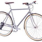 6KU Odyssey City Bike 8 Speed Brandford Silver-433