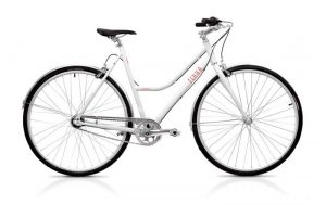 Finna Cycles Breeze City Bike 3 Speed Pearl White