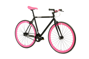 FabricBike Fixed Gear Bike - Matt Black / Pink-2863