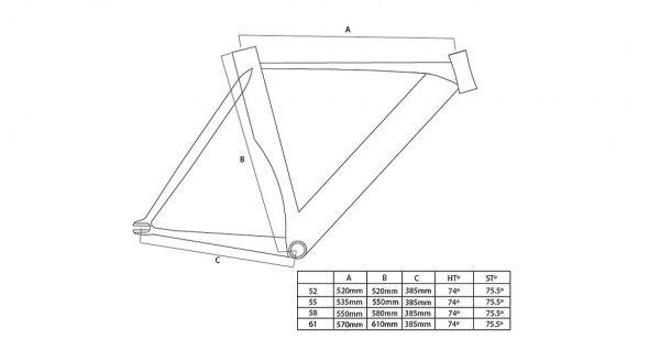 Unknown Bikes Fixed Gear Bike Singularity - White-3320