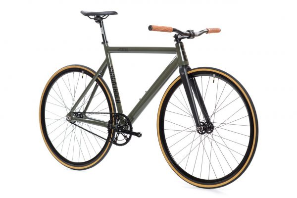 State Bicycle Co Fixed Gear Black Label v2 - Army Green-5934