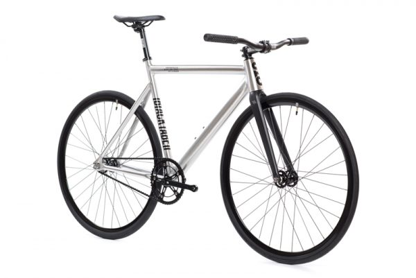 State Bicycle Co Fixed Gear Bike Black Label v2 - Raw Aluminum-6557