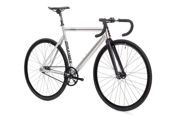 State Bicycle Co Fixed Gear Bike Black Label v2 - Raw Aluminum-6554