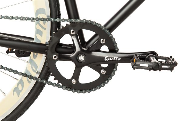 Quella Fixed Gear Bike Nero - Cream-6996