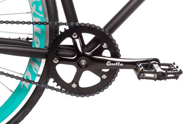 Quella Fixed Gear Bike Nero - Turquoise-7025