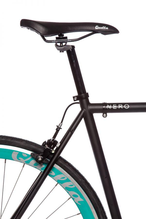 Quella Fixed Gear Bike Nero - Turquoise-7026