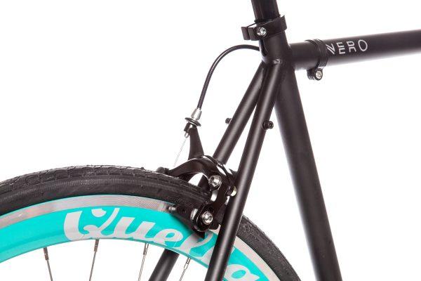 Quella Fixed Gear Bike Nero - Turquoise-7028