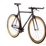 Quella Fixed Gear Bike Nero – Gold-6966