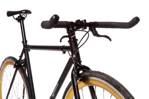 Quella Fixed Gear Bike Nero - Gold-6967