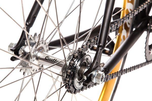 Quella Fixed Gear Bike Nero - Gold-6970