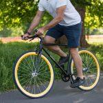 Quella Fixed Gear Bike Nero – Gold-6971