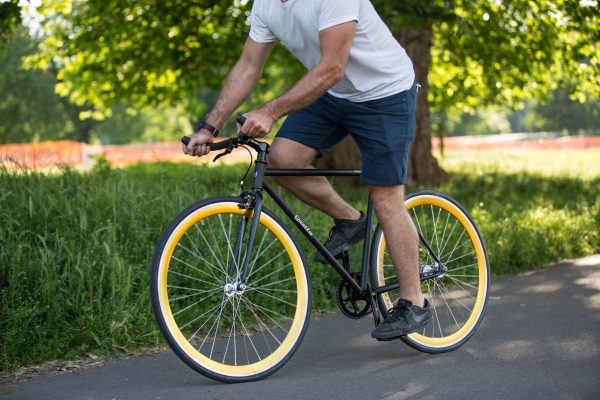 Quella Fixed Gear Bike Nero - Gold-6971