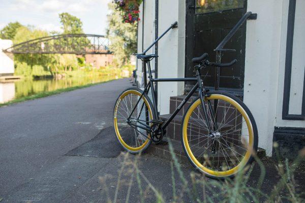 Quella Fixed Gear Bike Nero - Gold-6972