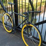 Quella Fixed Gear Bike Nero – Yellow-7007