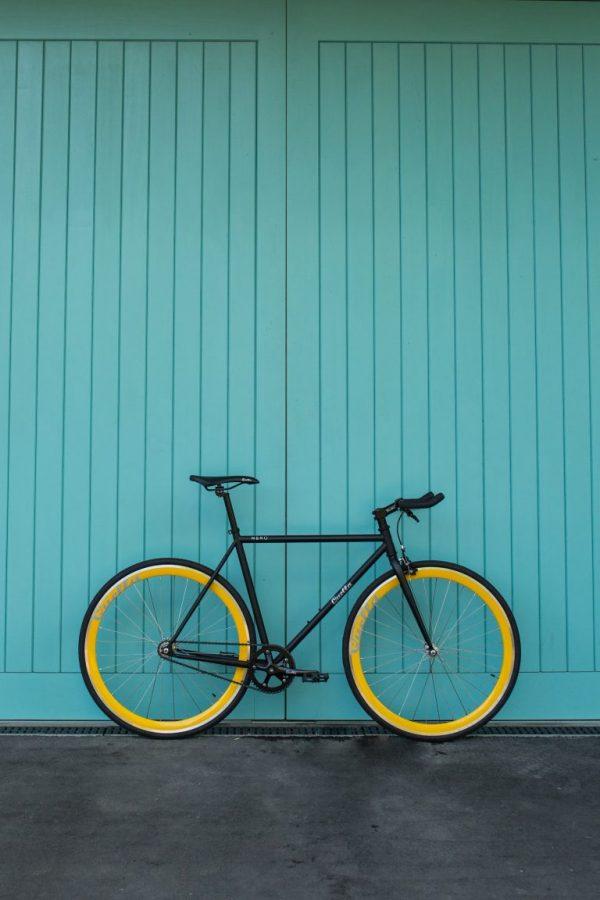 Quella Fixed Gear Bike Nero - Yellow-7008