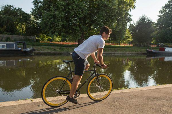 Quella Fixed Gear Bike Nero - Yellow-7009