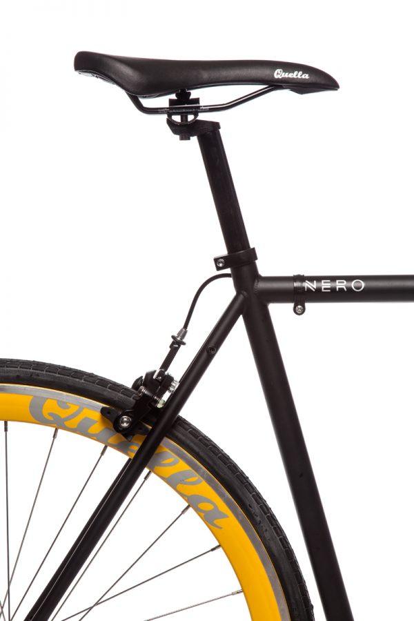 Quella Fixed Gear Bike Nero - Yellow-7003