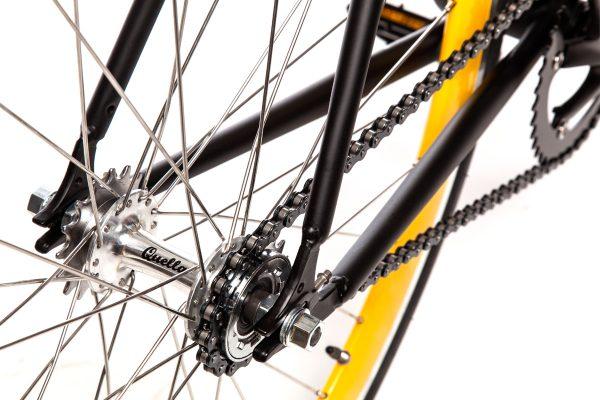 Quella Fixed Gear Bike Nero - Yellow-7005