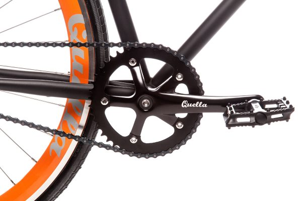 Quella Fixed Gear Bike Nero - Orange-6986