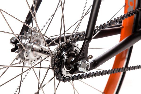 Quella Fixed Gear Bike Nero - Orange-6989