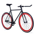 Quella Fixed Gear Bike Nero – Red-7018