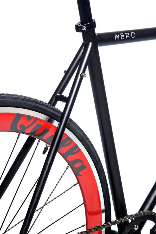 Quella Fixed Gear Bike Nero - Red-7020