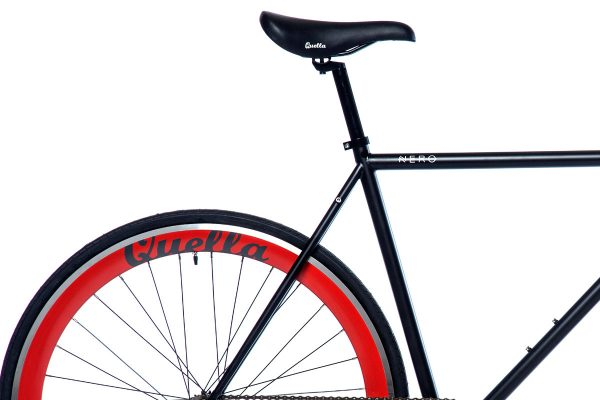 Quella Fixed Gear Bike Nero - Red-7021