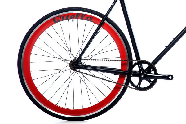 Quella Fixed Gear Bike Nero - Red-7022