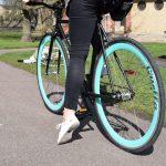 Quella Fixed Gear Bike Nero – Turquoise-7030