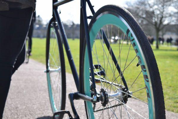 Quella Fixed Gear Bike Nero - Turquoise-7032