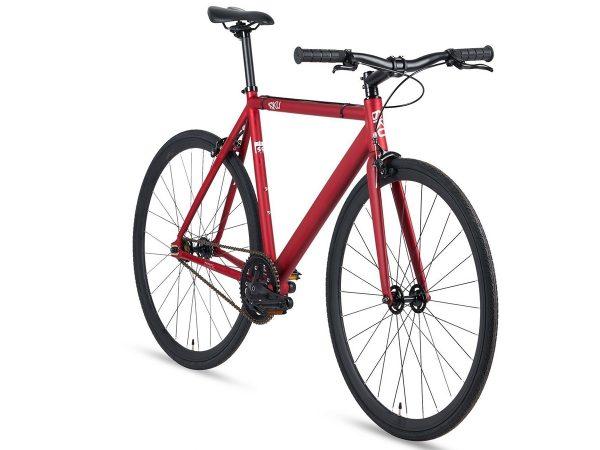 6KU Fixie Fiets Track Burgundy Rood-7205
