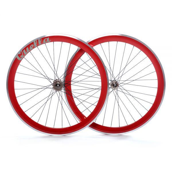 Quella Bikes 40MM Deep-V Wheelset-8053