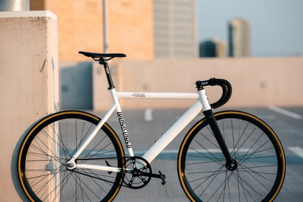 State Bicycle Co. Fixed Gear Bicycle Black Label v2 Pearl White-11291