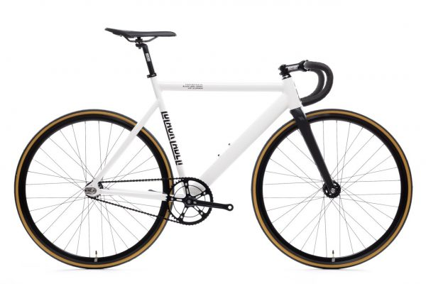 State Bicycle Co. Fixed Gear Bicycle Black Label v2 Pearl White-0
